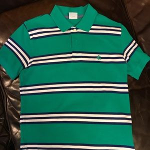 Men's Brooks Brothers polo, S, green w/ stripes